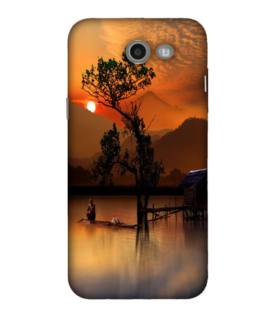SAMSUNGJ7 Sunset View Designed Back Cover