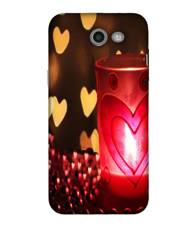 SAMSUNGJ7 Candle Night Love Designed Back Cover
