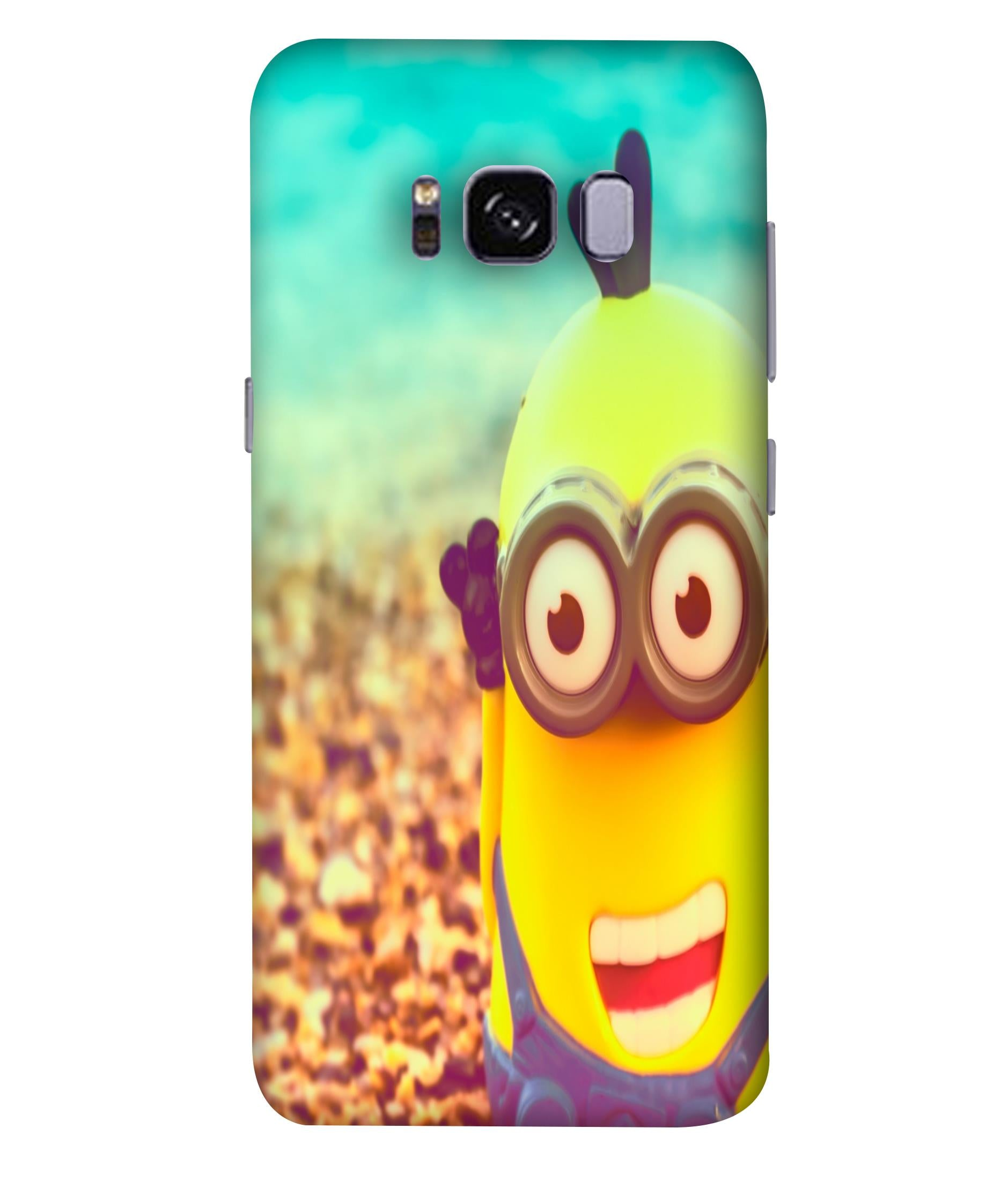 SAMSUNGS8  Minions Giggling Designed Back Cover