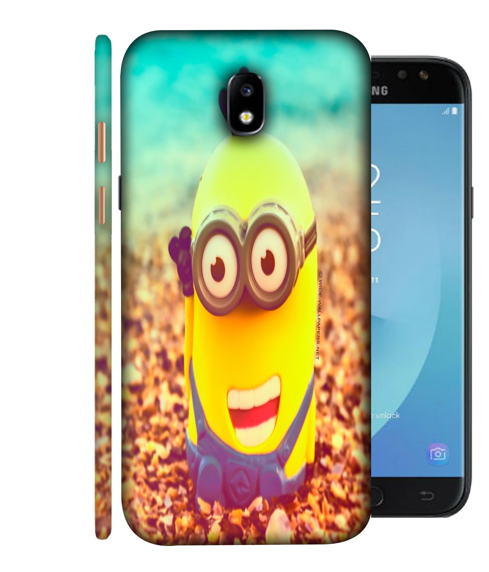 SAMSUNGJ7PLUS  Minions Giggling Designed Back Cover
