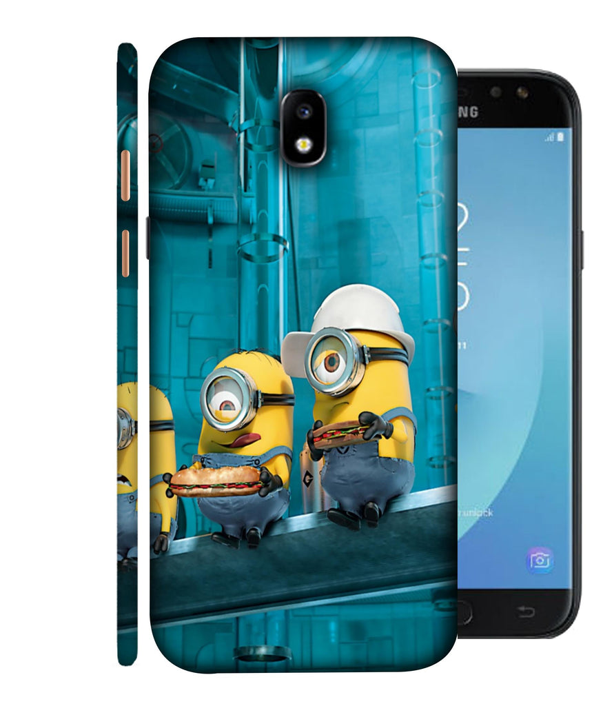 SAMSUNGJ7PLUS Minions Wall Designed Back Cover