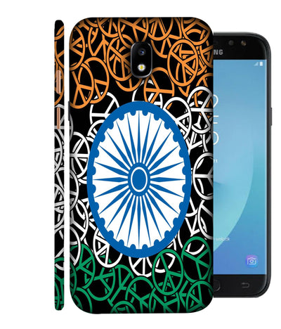 SAMSUNGJ7PLUS Flag On Wheels Designed Back Cover