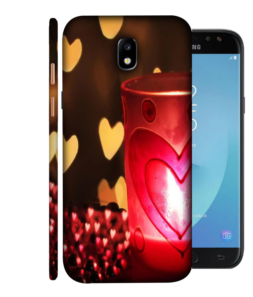 SAMSUNGJ7PLUS Candle Night Love Designed Back Cover