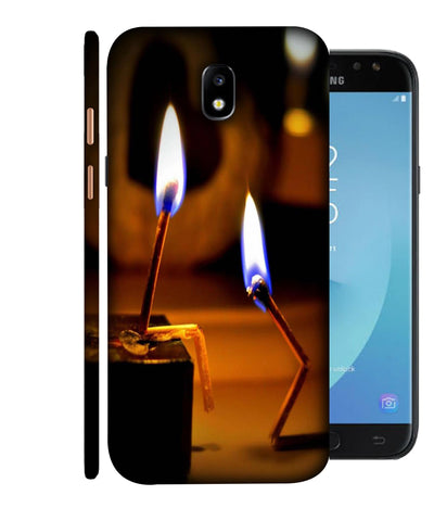 SAMSUNGJ7PLUS Brightened Match Stick Designed Back Cover