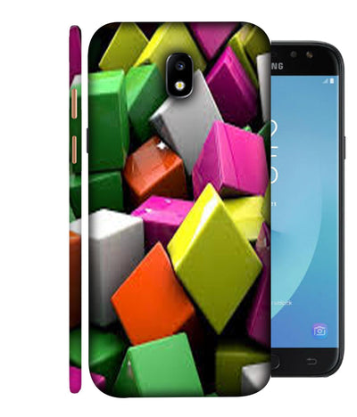 SAMSUNGJ7PLUS  Coloured Square Box  Designed Back Cover