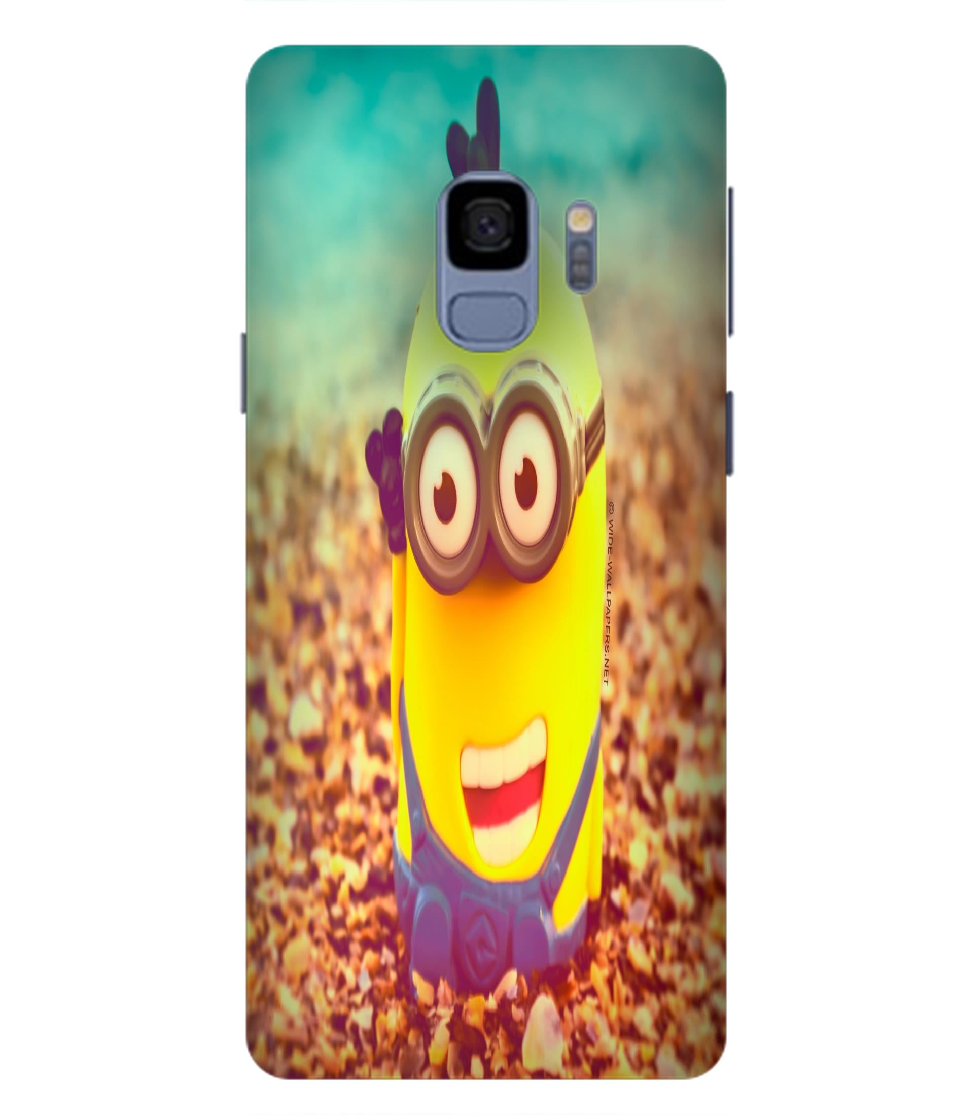 SAMSUNGS9  Minions Giggling Designed Back Cover