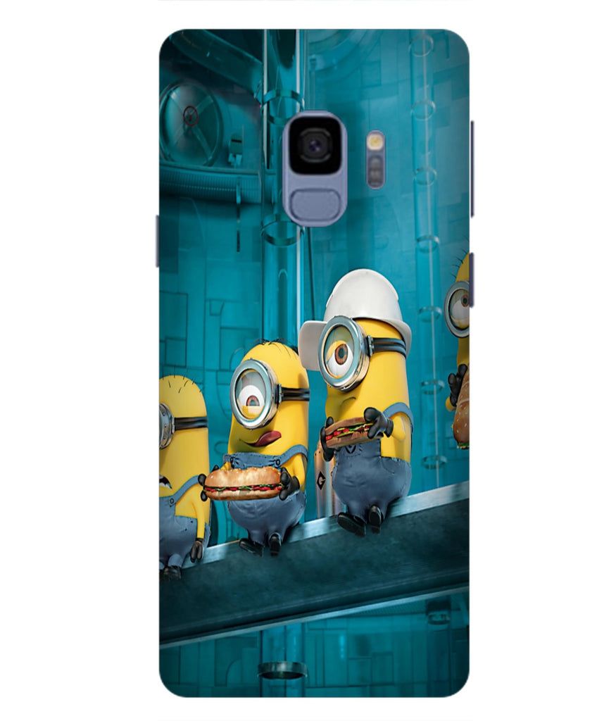 SAMSUNGS9 Minions Wall Designed Back Cover