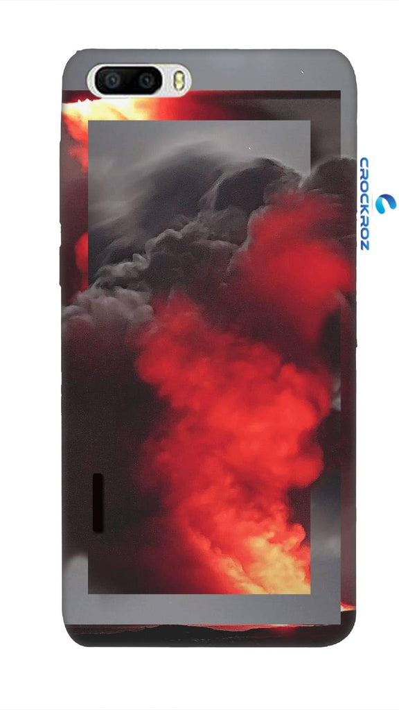Honor 6 Plus Fire smoke Designed Back Cover
