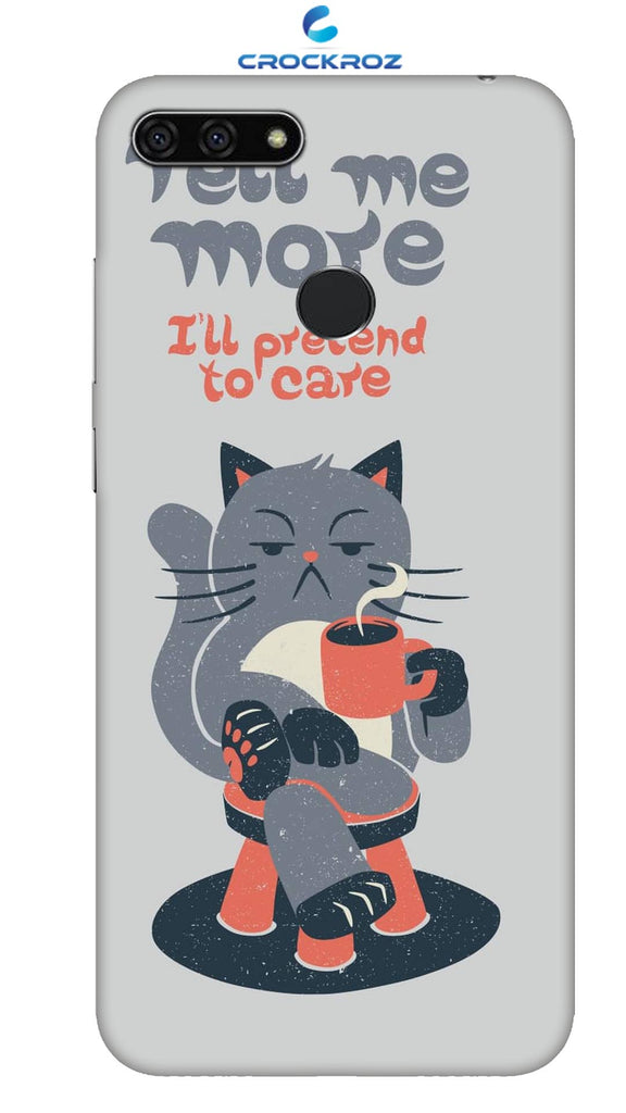 Honor 7A Cutiee caty  Designed Back Cover
