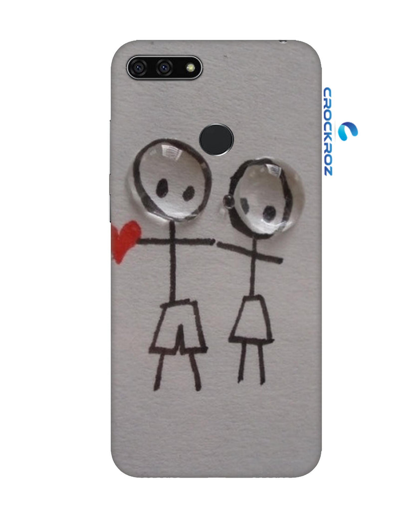 Honor 7A Funny Scratch Designed Back Cover