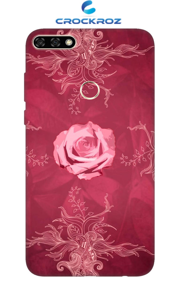 Honor 7C Rosy rose Designed Back Cover