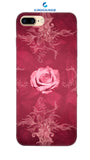 iPhone8 Plus  Rosy rose Designed Back Cover