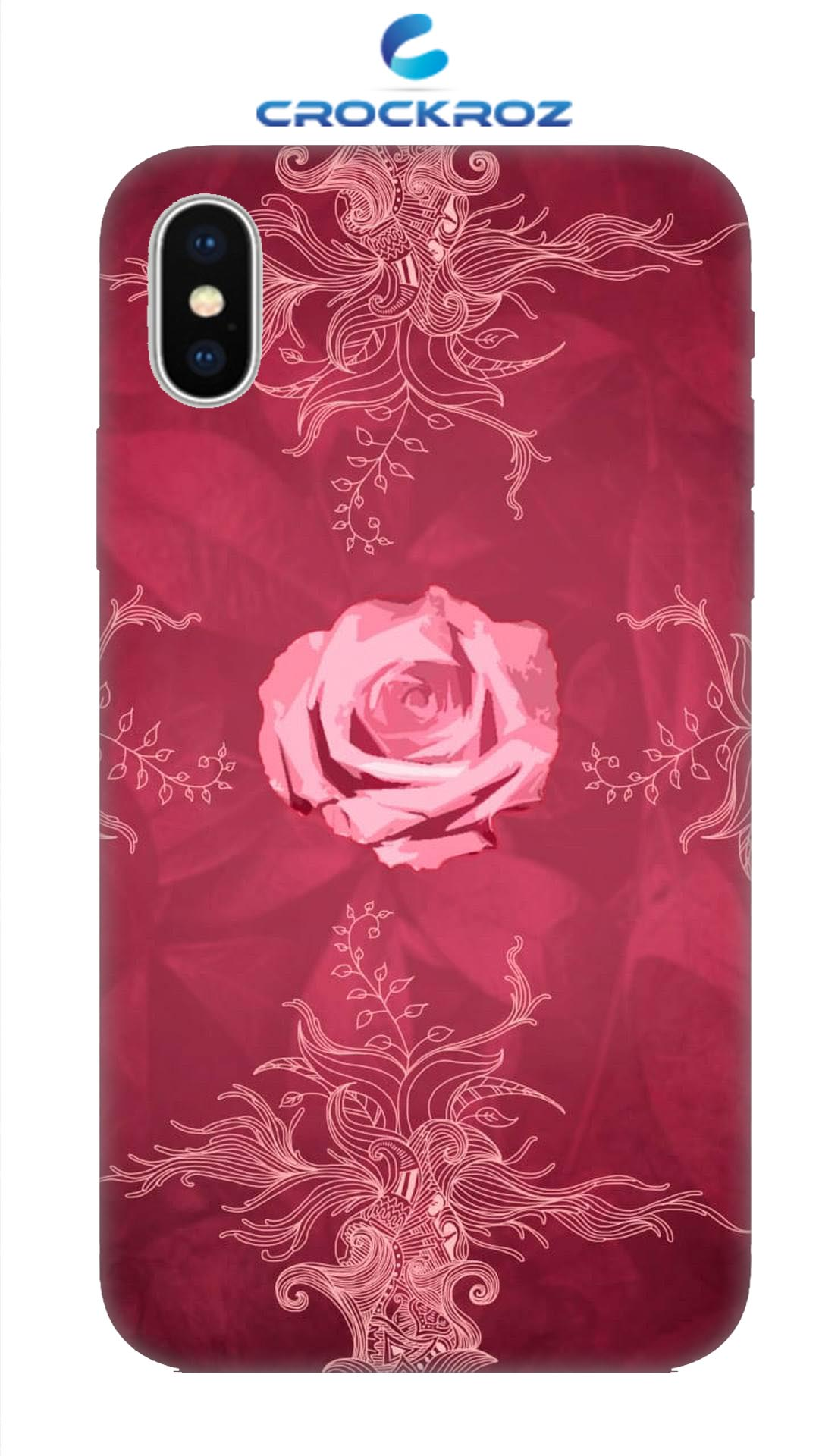 iPhone X Rosy rose Designed Back Cover