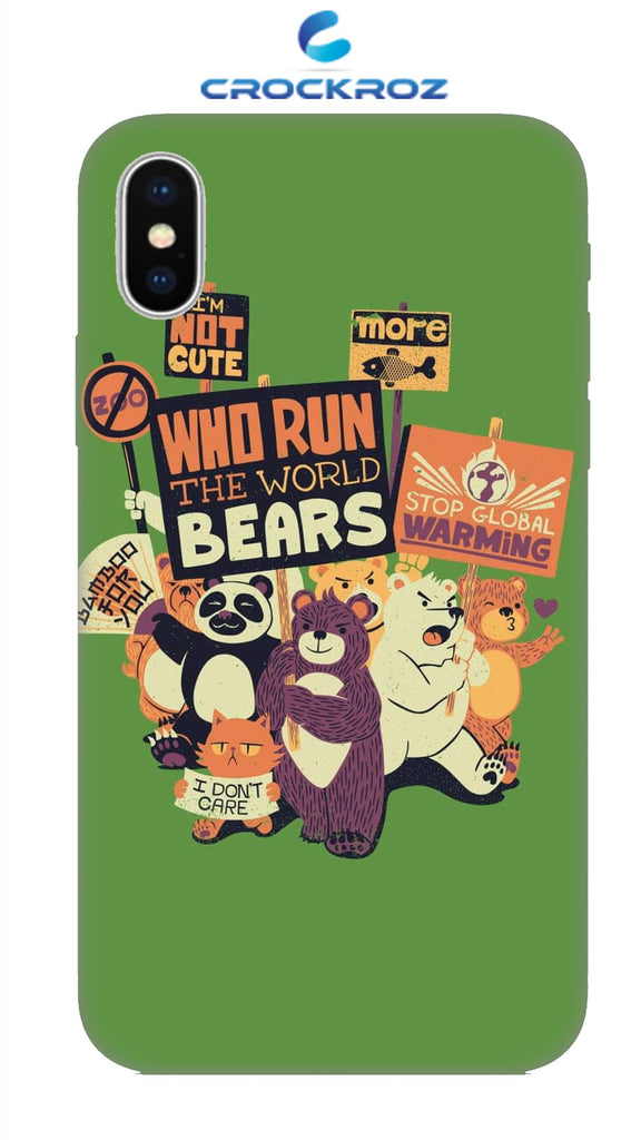 iPhone X Beary Designed Back Cover