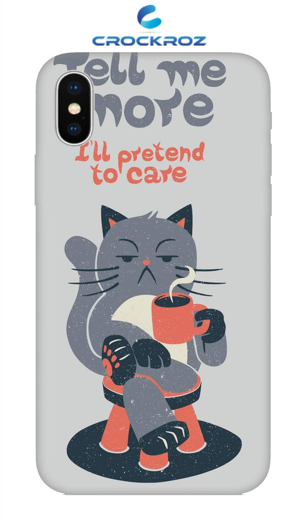 iPhone X Cutiee caty  Designed Back Cover