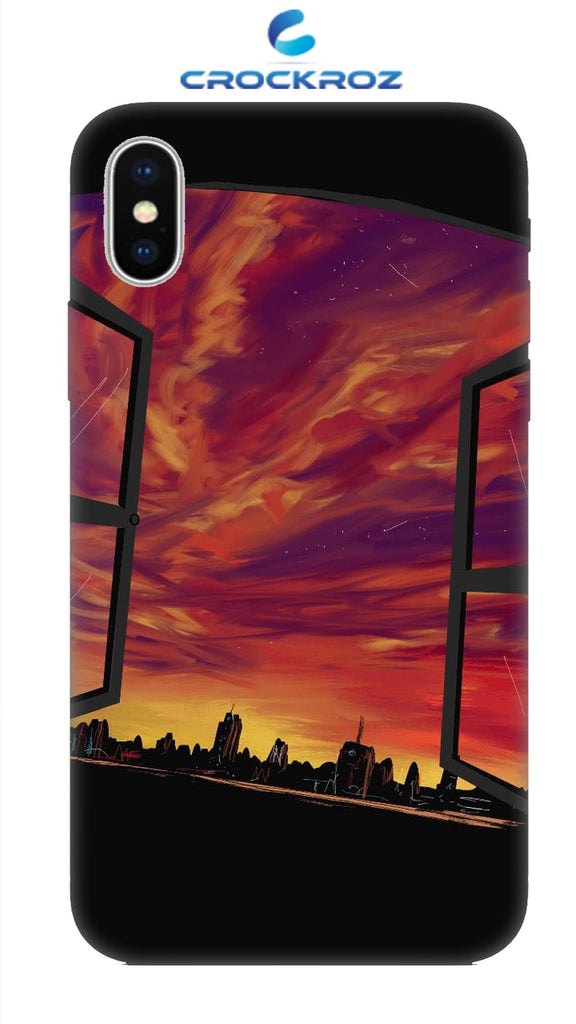 iPhone X Dark city Designed Back Cover
