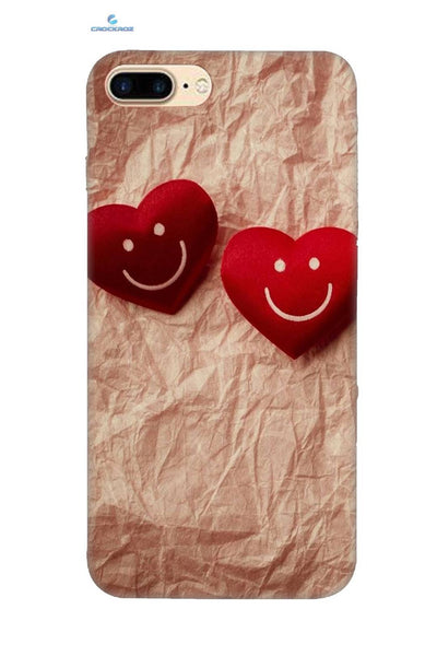 iPhone8 Plus Heart smiley Designed Back Cover