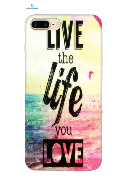 iPhone8 Plus Life love Designed Back Cover