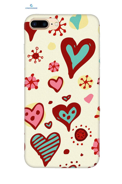 iPhone8 Plus Colourful heart Designed Back Cover