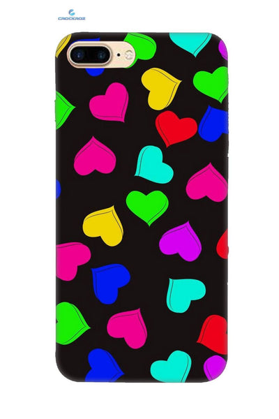 iPhone8 Plus Little heartz Designed Back Cover