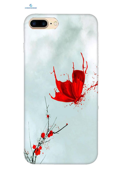 iPhone8 Plus Red butterfly Designed Back Cover