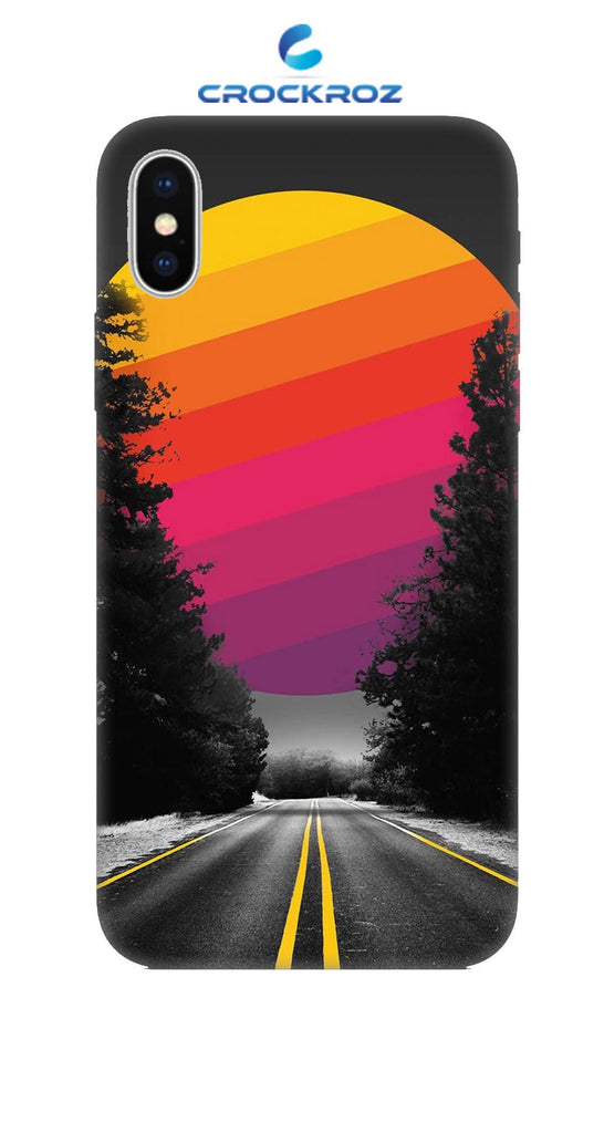 iPhone X Lonely roads Designed Back Cover