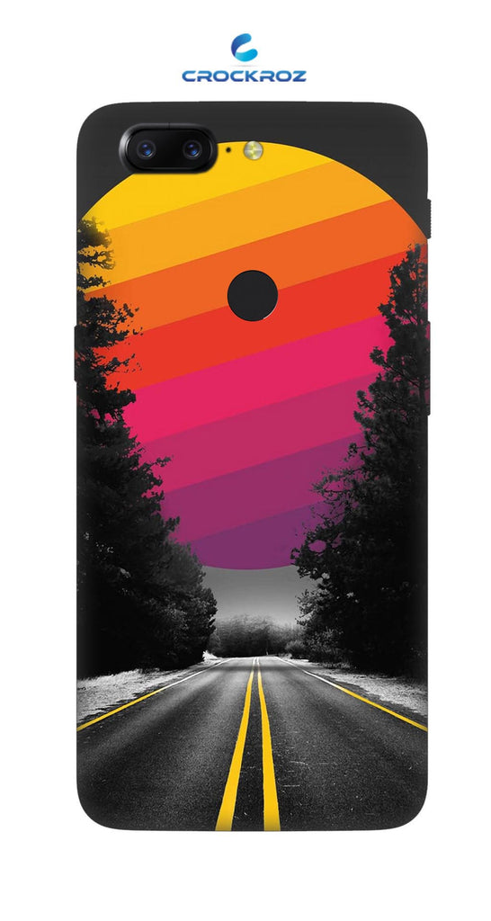 One Plus 5T Lonely roads Designed Back Cover