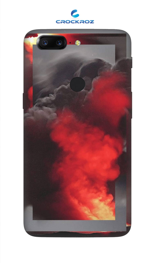 One Plus 5T Fire smoke Designed Back Cover