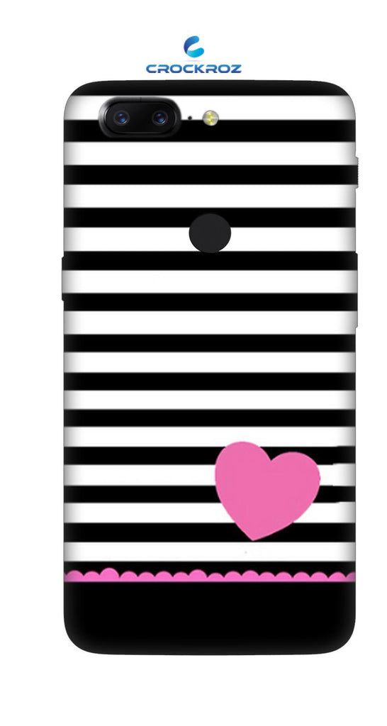 One Plus 5T little hearts Designed Back Cover