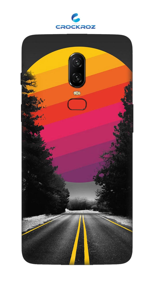 One Plus 6 Lonely roads Designed Back Cover