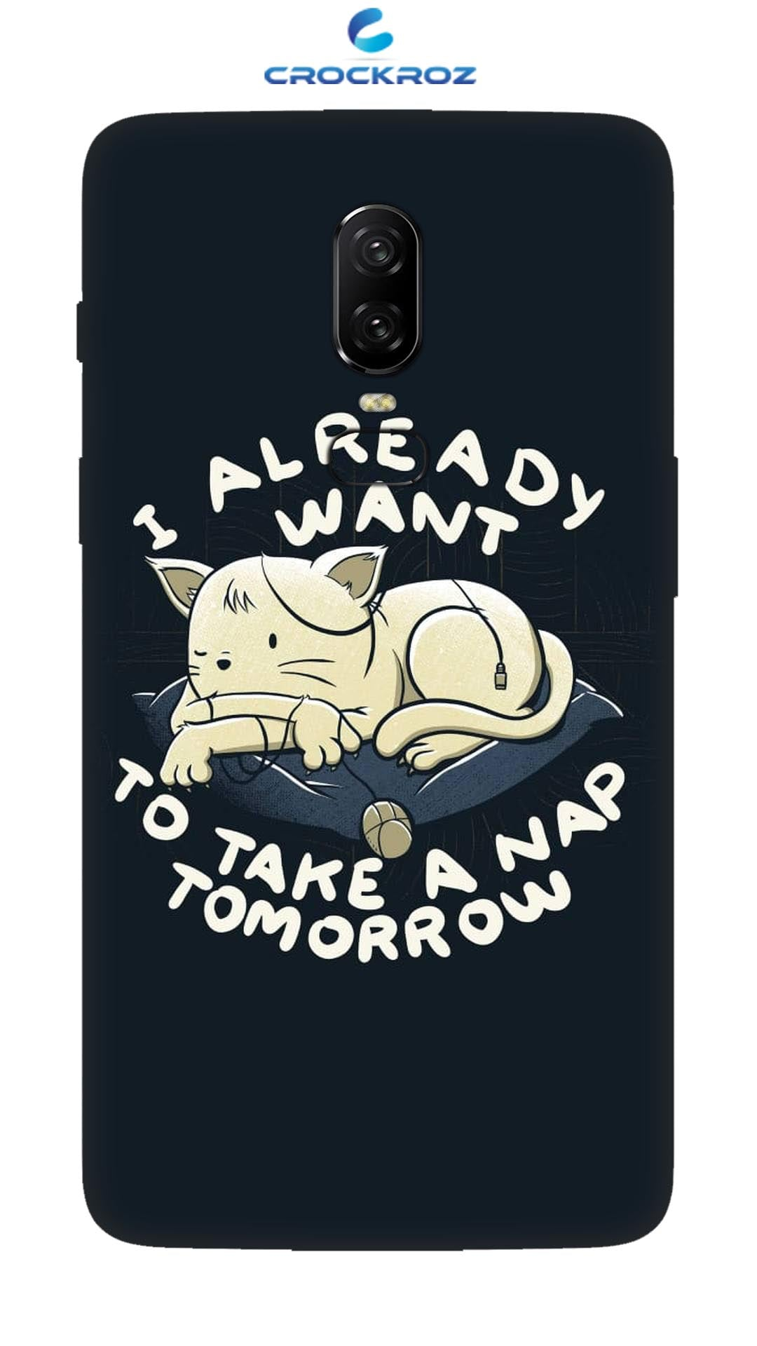 OnePlus 6  Sleepy caty Designed Back Cover