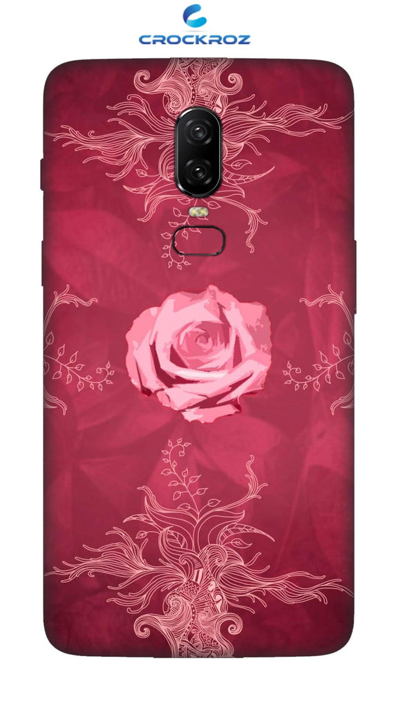 OnePlus 6 Rosy rose Designed Back Cover