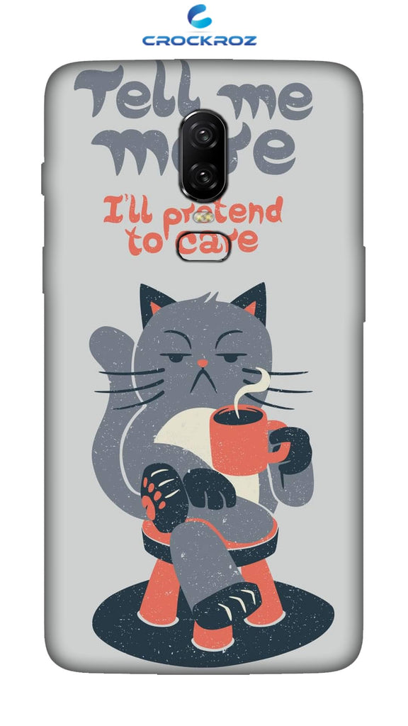 OnePlus 6 Cutiee caty  Designed Back Cover