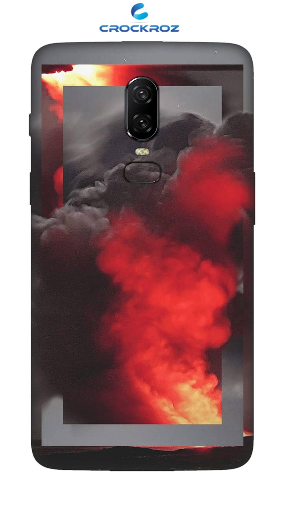 One Plus 6 Fire smoke Designed Back Cover