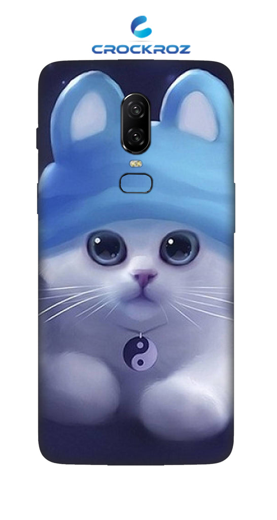 One Plus 6 cutie  cats Designed Back Cover