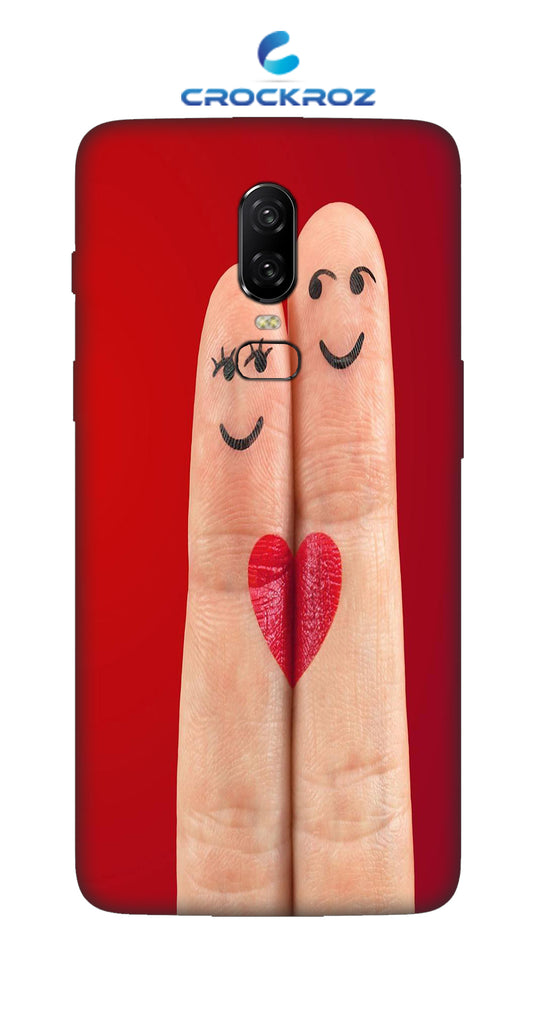 One Plus 6 Finger art Designed Back Cover
