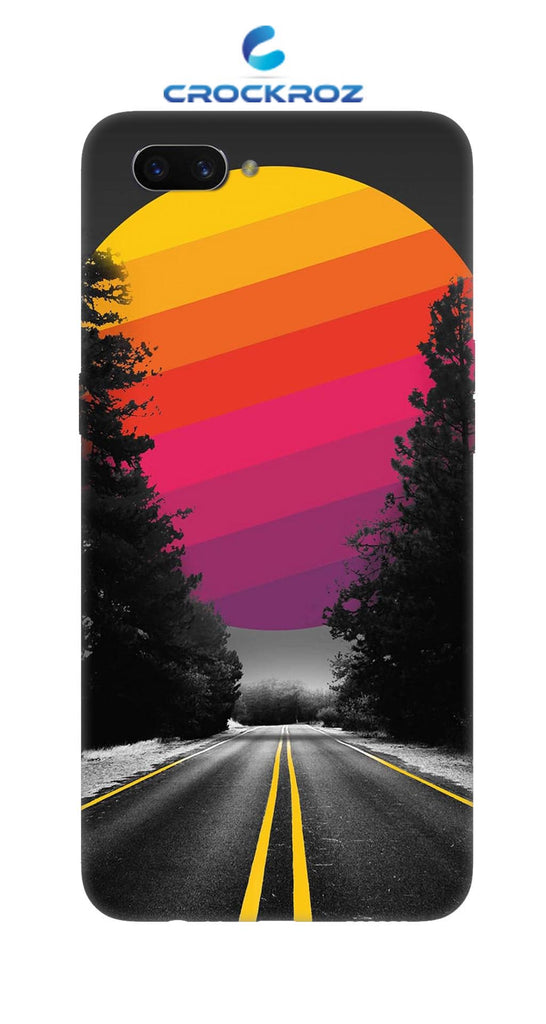 OppoA3S Lonely roads Designed Back Cover