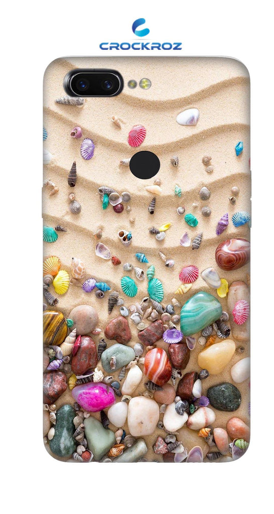 OppoA3S Pebbles Designed Back Cover