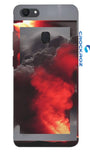 Oppo F5 Fire smoke Designed Back Cover