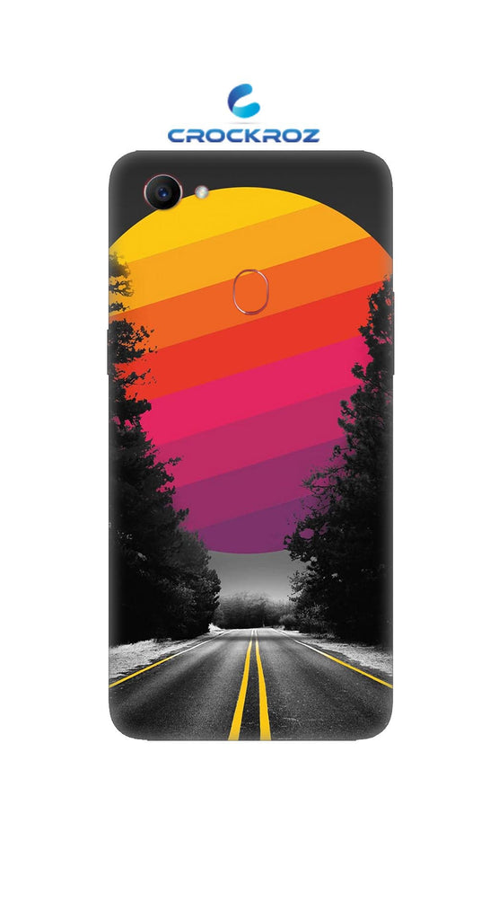 Oppo F7 Lonely roads Designed Back Cover