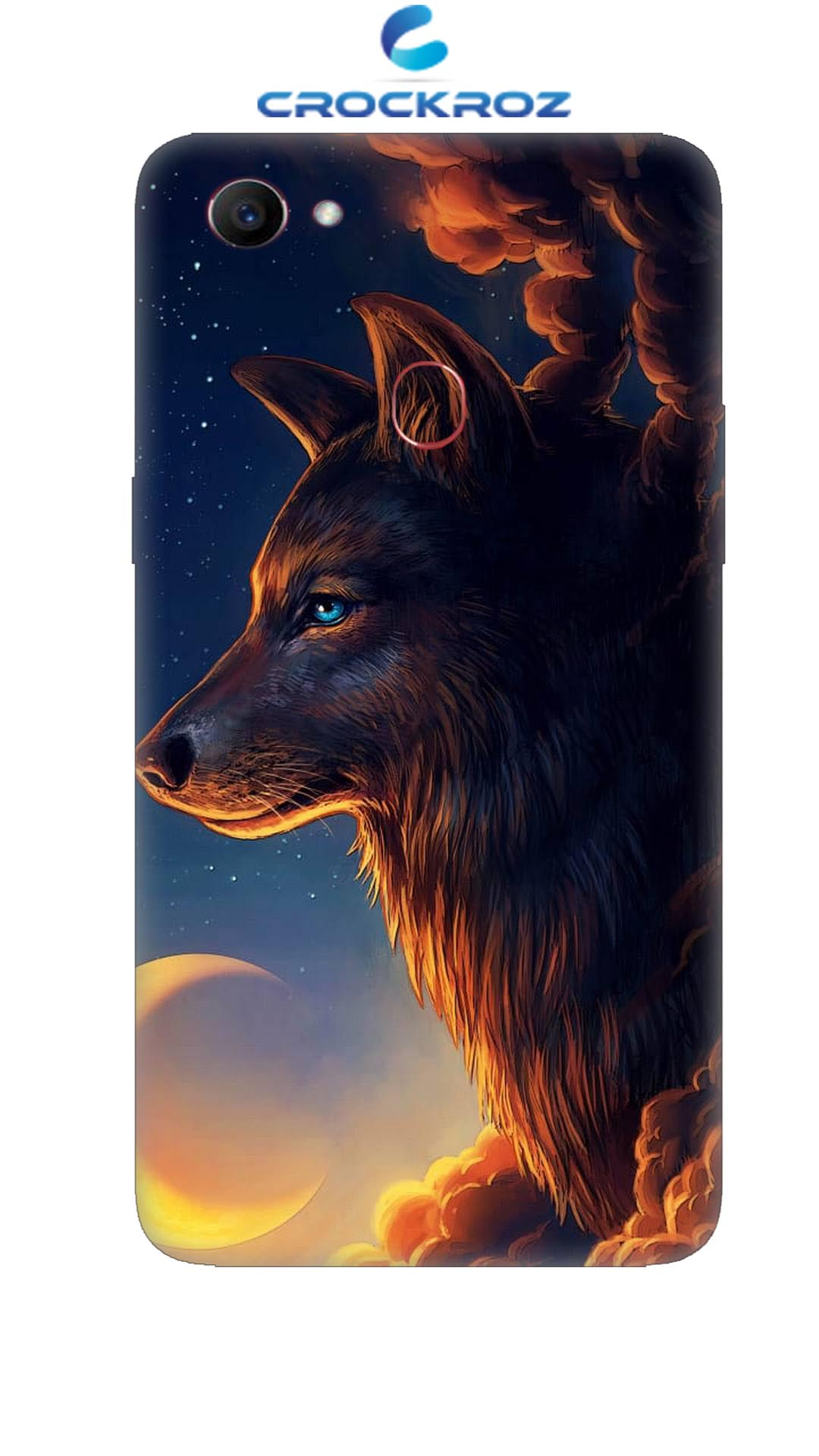 Oppo F7 Wolf Designed Back Cover