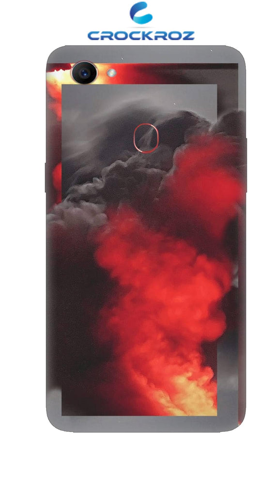 Oppo F7 Fire smoke Designed Back Cover