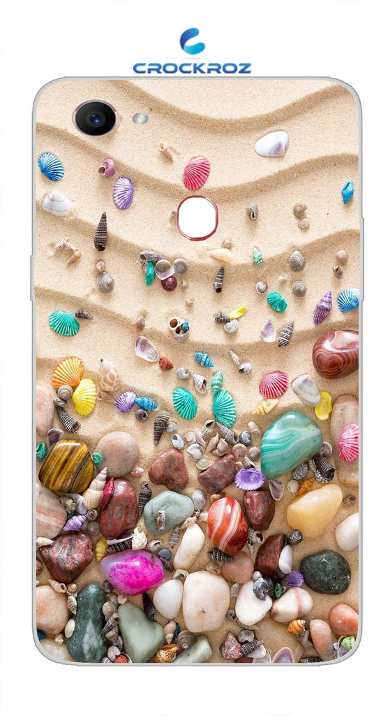 Oppo F7 Pebbles Designed Back Cover