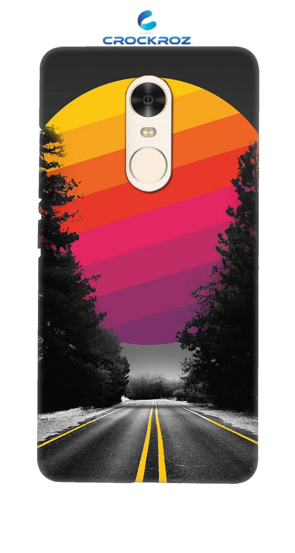 Redmi Note 4 Lonely roads Designed Back Cover