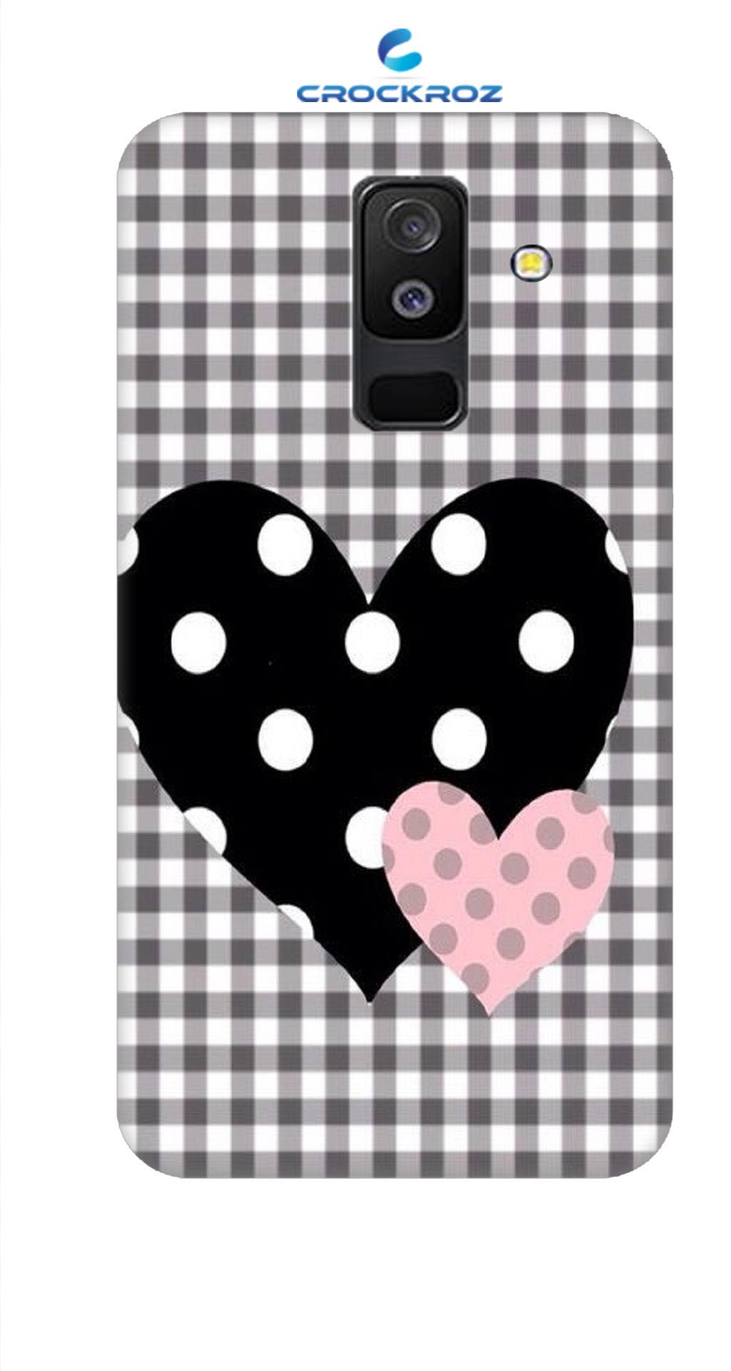 SAMSUNG A6 Plus heart to heart Designed Back Cover