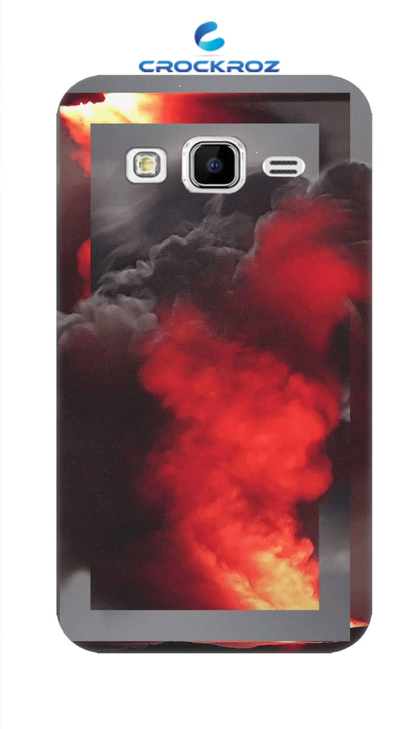 SAMSUNG J2-16  Fire smoke Designed Back Cover