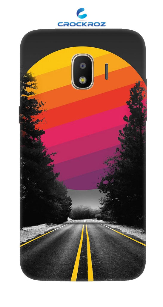SAMSUNGJ2-18 Lonely roads Designed Back Cover