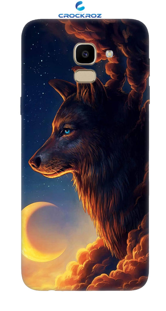 SAMSUNG J6 Wolf Designed Back Cover