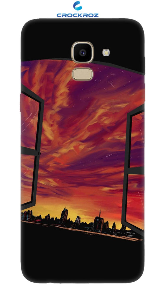 SAMSUNG J6 Dark city Designed Back Cover