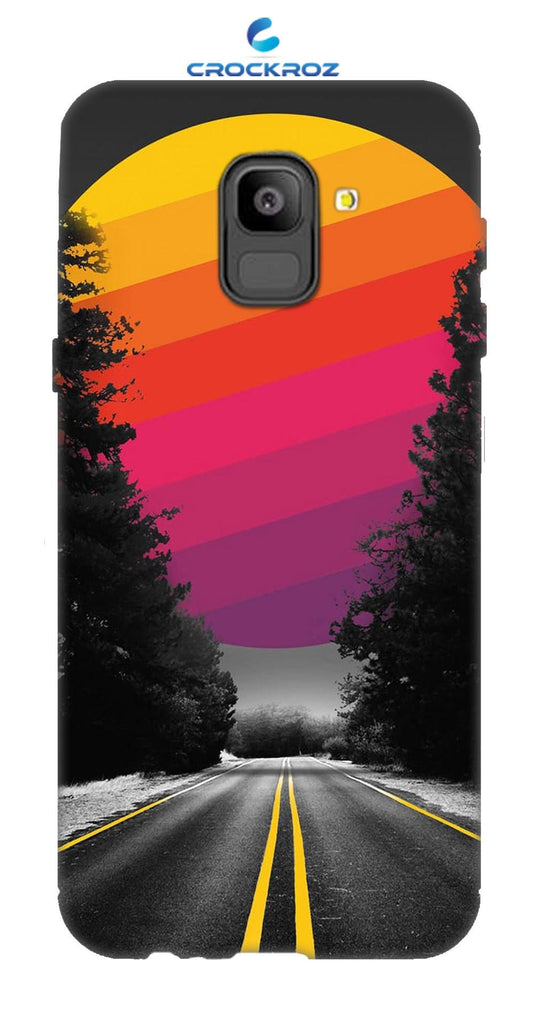 SAMSUNG On6 Lonely roads Designed Back Cover